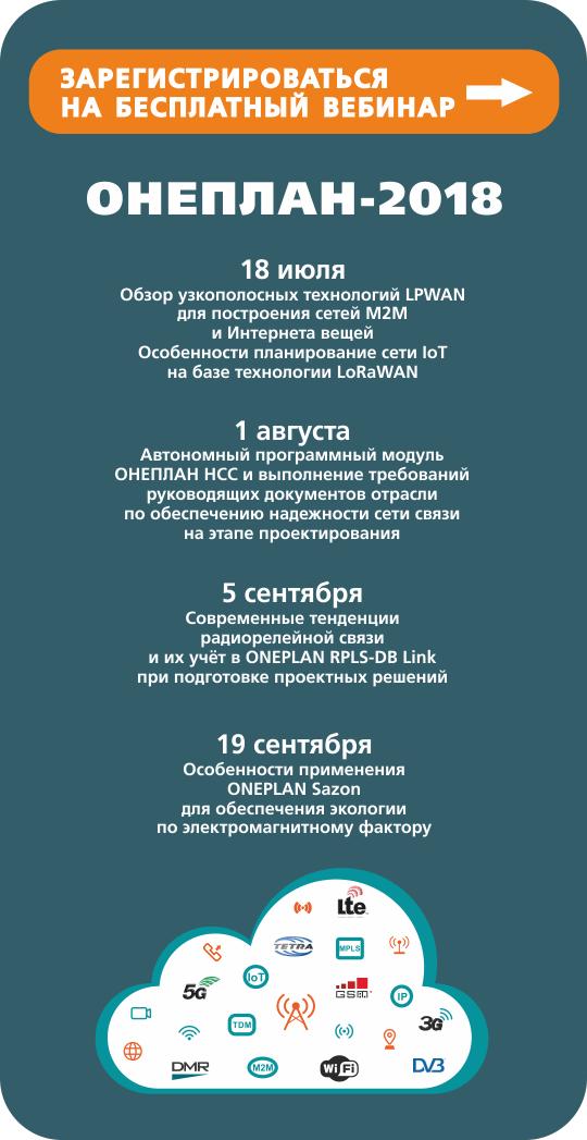 зарегистрироваться на вебинар ОНЕПЛАН-2018